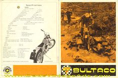 Circa 1969 Bultaco Sherpa T Trials Motorcycle Brochure with photos and specs