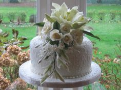 Wedding Cake Icing Flower Arrangement