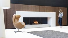 The Matrix III is a gas fireplace that brings a certain level of elegance, warmth and beauty to any room. Electric Fireplace, Gas Fireplace, Fireplaces, Interior Styling, Interior Decorating, Interior Design, Log Burner, Gas And Electric, Egg Chair