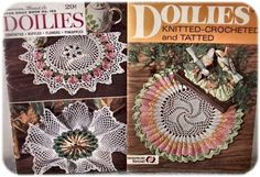 Crocheted, Knitted and Tatted / Crocheted  Two very old Pattern booklets.  Both have 35 pages  Published by American Thread  Date unknown  Intact, with No tears,No marks, and No stains.