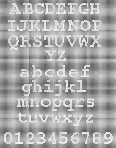 Instant Download Typewriter Style Alphabet Filet by Morlaithiel