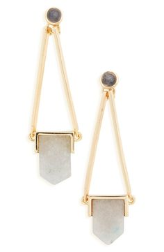 Sole Society 'Abstract Stone' Drop Earrings available at #Nordstrom