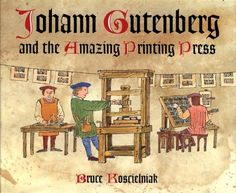 Gutenberg Press | The first process of the Gutenberg Press was rolling ink over the raised surface of movable hand-set block letters held within a wooden form. Then, the form is pressed against a sheet of paper. The Gutenberg Press is an example of movable type printing.