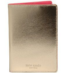 kate spade gold passport cover