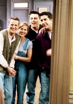 Friends: Chandler, Rachel, Joey and Ross