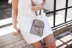 Little White Dress Mini Chloe Faye Bracelet Bag