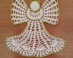 New 4.92 handmade crochet doily / Lace doily / Table by JulStyle