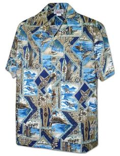 North Shore Honu Tapa - Aloha Shirt