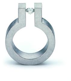 The King Ring 18K White Gold.