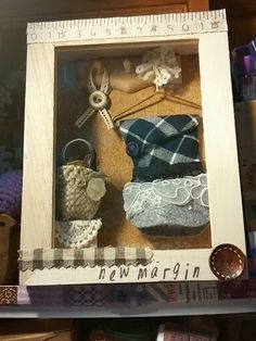 Handmade Shadow Box ~designed for my friend's new boutique - New Margin