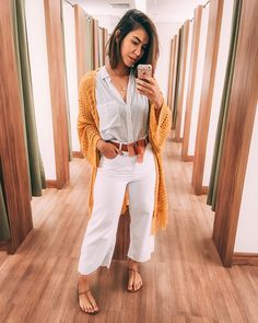 Look casual chic Edgy Outfits, Summer Outfits, Fashion Outfits, Womens Fashion, Look Casual Chic, Casual Looks, White Fashion, Look Fashion, Look Hippie Chic