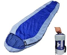 50oz 4 Season 400 XL Camping Hiking Mummy Sleeping Bag Winter FM