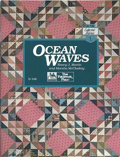 OCEAN WAVES Quilt Quilting By MARSHA MCCLOSKEY & NANCY MARTIN SC