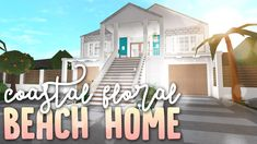 Coastal Floral Beach Home Two Story House Design, Tiny House Layout, House Layouts, Bedroom Ideas For Teen Girls Tumblr, Modern Family House, House Plans With Pictures, Mansion Interior, Unusual Homes, Cute House