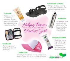 Hiking Basics for the Clueless Girl Comfy Shoes, Comfortable Shoes, Hiking Essentials, Clueless, Sunscreen, Backpacking, Bring It On, Adventure, Nature