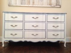 French provincial redo! Annie Sloan old white and Paris grey. Love these!