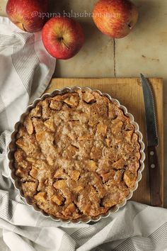 A no-crust Norwegian Apple Pie that's more cake than pie, is easy to make and is all about the flavour of apples, cinnamon and nutmeg. Apple Cake Recipes, Apple Desserts, Dessert Recipes, Apple Cakes, Yummy Treats, Delicious Desserts, Clean Recipes, Cooking Recipes, Norwegian Food