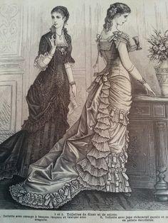 Evening gowns, La Saison October 1879