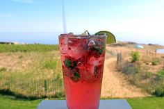 """#TGIF!! It's just about time for an end of week cocktail. Imbibe in our refreshing """"Mad Mojito"""" on the porch."""