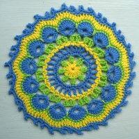 Crochet Mandala Wheel made by Rhonda, Australia, for yarndale.co.uk