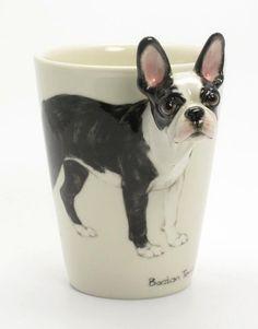 Boston Terrier Dog Lover Ceramic Mug Art Crafts Gifts Boston Terriers, Boston Terrier Love, Black And White Coffee, White Coffee Cups, Black White, Gifts For Pet Lovers, Dog Lovers, Dog Gifts, Coffee Cup Art