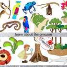 Learning about The Amazon Clipart Set includes: 18 Images to learn about The Amazon Rainforest, including: a South America Rainforest map (labeled ...