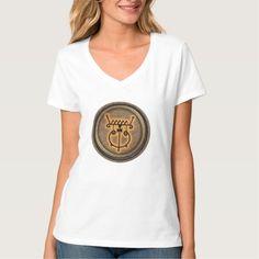 Produto Personalizado Camiseta Feminina Hanes Nano, Gola V