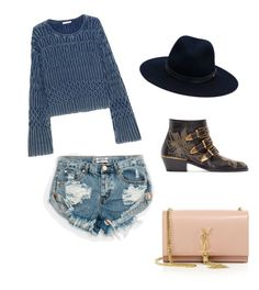 """""""Untitled #11"""" by aslimishka ❤ liked on Polyvore featuring Chloé, One Teaspoon, rag & bone and Yves Saint Laurent"""