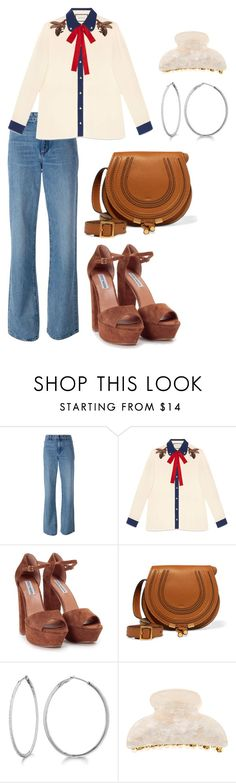 """""""Jealousy Incarnate Inspired Outfit #Kdrama"""" by indirag on Polyvore featuring Helmut Lang, Gucci, Steve Madden, Chloé, Allurez and Accessorize"""