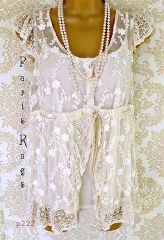 Sarah Jane Lace Romance top... paris rags- sooo pretty