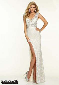 Sexy white lace #promdress by @paparazziprom