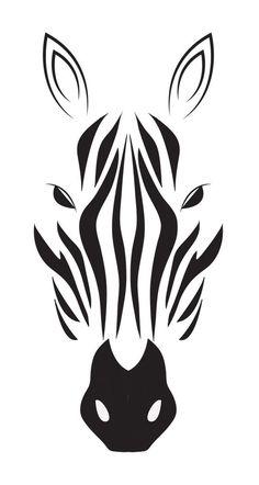 Zebra stencil for inverted carving Stencils, Stencil Art, Animal Stencil, Silhouette Art, Silhouette Projects, Animal Silhouette, Zebra Drawing, Stencil Patterns, Stencil Templates