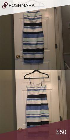 Midi dress! Midi stripped bonded satin dress! Great for resort wear! Great fit!!! Cynthia Rowley Dresses Midi