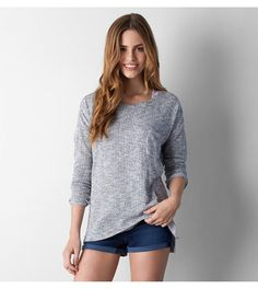 Grey AEO Feather Light Pocket Sweater --- check on my want list... check