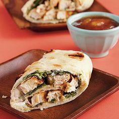 Chicken Wraps with Mango Chutney | CookingLight.com