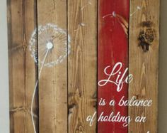Reclaimed wood wall art Enjoy the little things by TinHatDesigns