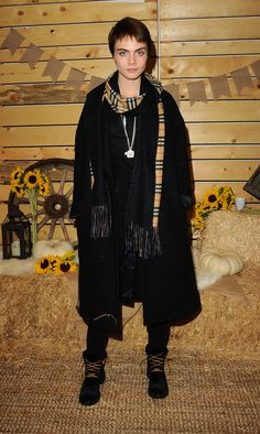 Cara Delevingne 2017 > NOVEMBER 14 - BOLLARE HOLIDAY HARVEST X TIMBERLAND FALL STYLE EVENT
