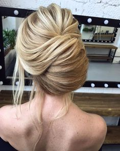 Updo Hairstyle Whether a classic chignon, textured updo or a chic wedding updo with a beautiful details. These wedding updos are perfect for any bride looking for a unique - Hair by Oksana Sergeeva Debs Hairstyles, Unique Wedding Hairstyles, Romantic Hairstyles, Vintage Hairstyles, Pretty Hairstyles, Updo Hairstyle, Romantic Wedding Hair, Wedding Updo, Chic Wedding