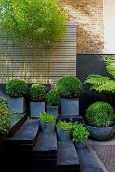 30 Adorable Black Garden Ideas For Amazing Garden Inspiration Modern Landscape Design, Modern Garden Design, Backyard Garden Design, Modern Backyard, Modern Landscaping, Contemporary Landscape, Backyard Landscaping, Landscaping Ideas, Backyard Ideas