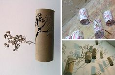 25 Creative DIY Toilet Paper Roll Wall Art