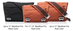 "Messenger Bag fits up to 17"" Macbook Pro  http://www.upcmac.com.hk/index.php?target=categories_id=516"