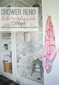 If you want to renovate your shower but aren't an expert, check out this DIY Shower Renovation! The Schulter Kerdi shower system makes the job a whole lot easier. Great info on diy shower tile. Diy Bathroom Baskets, Bathroom Ideas, Bathroom Makeovers, Shower Ideas, Ikea Bathroom, Design Bathroom, Modern Bathroom, Master Bathroom, Home Renovation