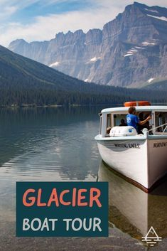 Don't miss the awesome boat tour in Glacier National Park! Be sure to plan ahead because tickets often sell out! Acadia National Park Camping, Grand Canyon Camping, Glacier National Park Montana, Glacier Park, Visit Montana, Many Glacier, Whitefish Montana, Best Places To Camp, Us National Parks