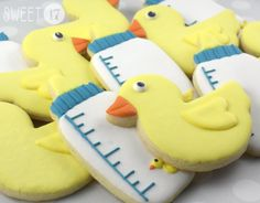 Rubber Ducky Sugar Cookies Sweet17Cookies.Etsy.com