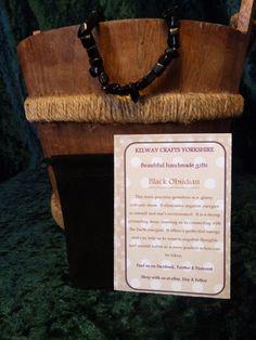 Black Obsidian bracelet precious stone gemstone meanings stretch bracelet  £9.99