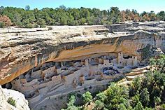 Cliff Palace, Mesa Verde National Park (Anasazi are perhaps best known for the stone & adobe dwellings built along cliff walls, particularly during the Pueblo II & Pueblo III eras).