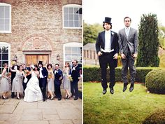 An Autumn Wedding in the English Countryside: Betsy + Patrick    Top hats for the boys?