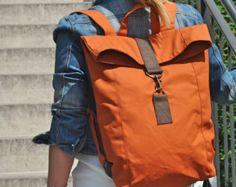 Canvas Rucksack, Leder Rucksack, Backpack, wasserabweisend, Herren, Laptop Tasche, Damen Tasche, Herren Tasche, UNISEX, Reisetasche, bag