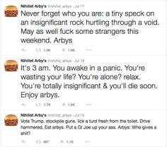 Nihilist Arby's is the best thing on Twitter