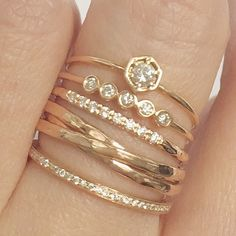 Dear StitchFix Stylist - I love stacked rings in mixed styles. Can wear every day for some interesting sparkle!